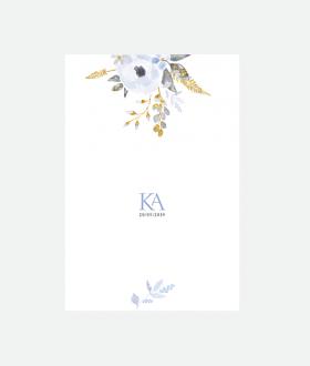 Προσκλητήριο γάμου δύο όψεων λουλούδια