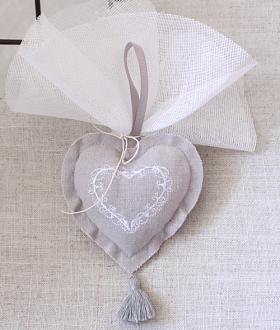 Μπομπονιέρα γάμου αρωματική καρδιά