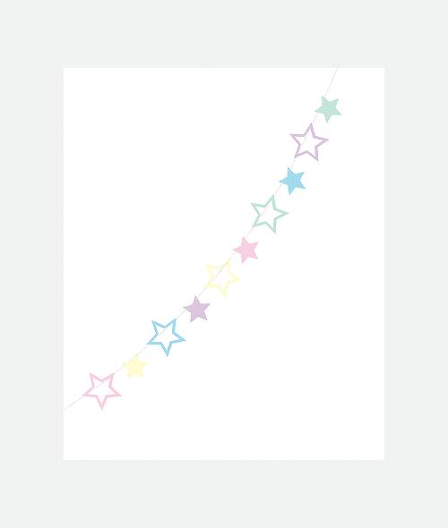 Γιρλάντα αστέρια diy