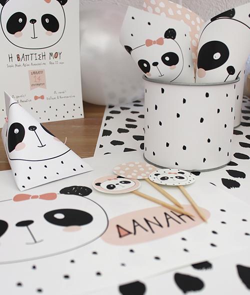 Kit διακόσμησης panda