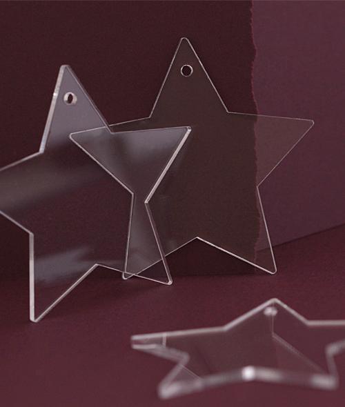 Αστέρια διακόσμησης plexiglass