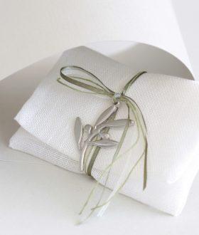Μπομπονιέρα γάμου κλαδί ελιάς